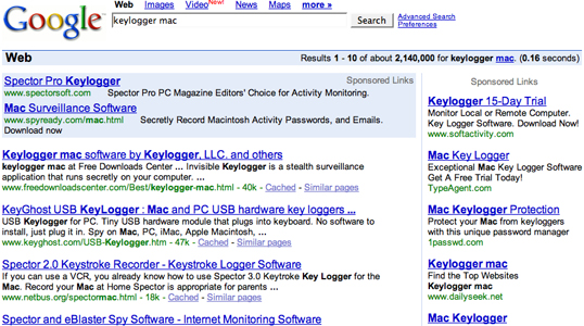 "Keylogger For Mac. search for ""Mac Keylogger"""
